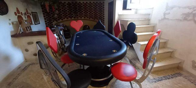Mesa Poker OPACMARE + 8 cadeiras design Italiano