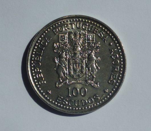 Moeda 100 escudos 1986 X Aniversário da Autonomia dos Açores
