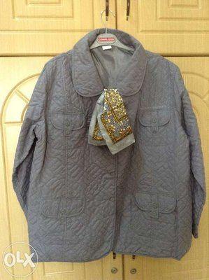 Новая серая куртка Pierre Balmain плюс шарфик в подарок