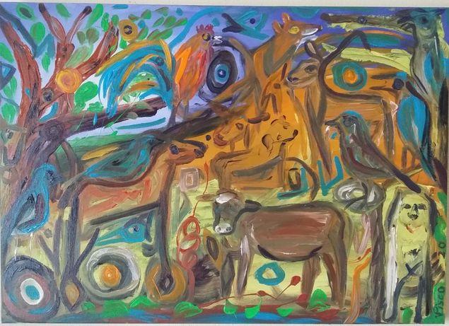 A Festa dos Gaios, acrílico sobre tela, 50x70 cm