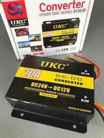 Преобразователь напряжения (инвертор) с 24 вольт - на 12В 30A 240Вт
