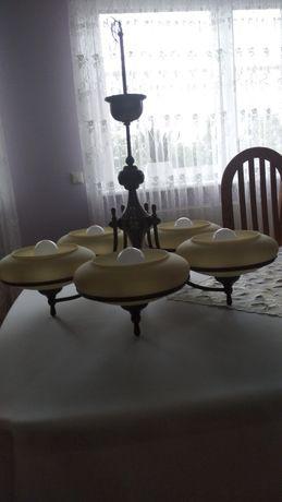 Sprzedam zestaw żyrandol mosiężny