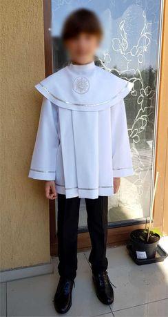 Alba komunijna krótka dla chłopca + spodnie i koszula na 146 cm