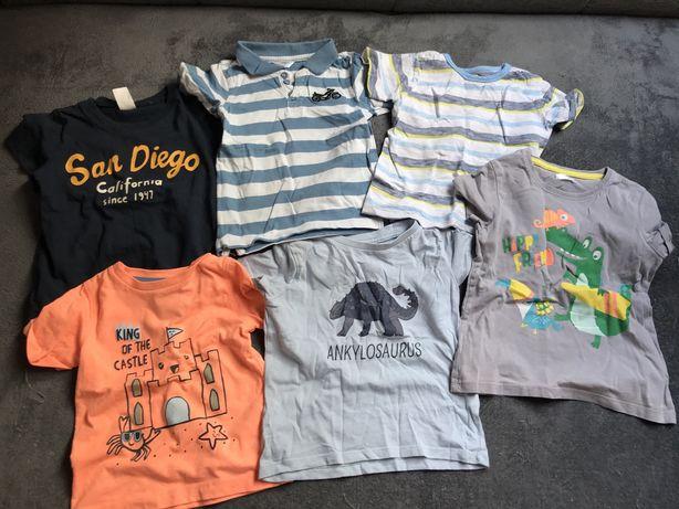 Paka, paczka zestaw ubrań, spodnie, koszule, bluzki dla chłopca 86