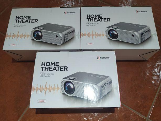 Projector bomaker cinema em casa 5000 lumens