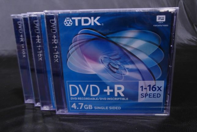 Płyta DVD +R TDK 4.7GB 1X16 Speed 4szt