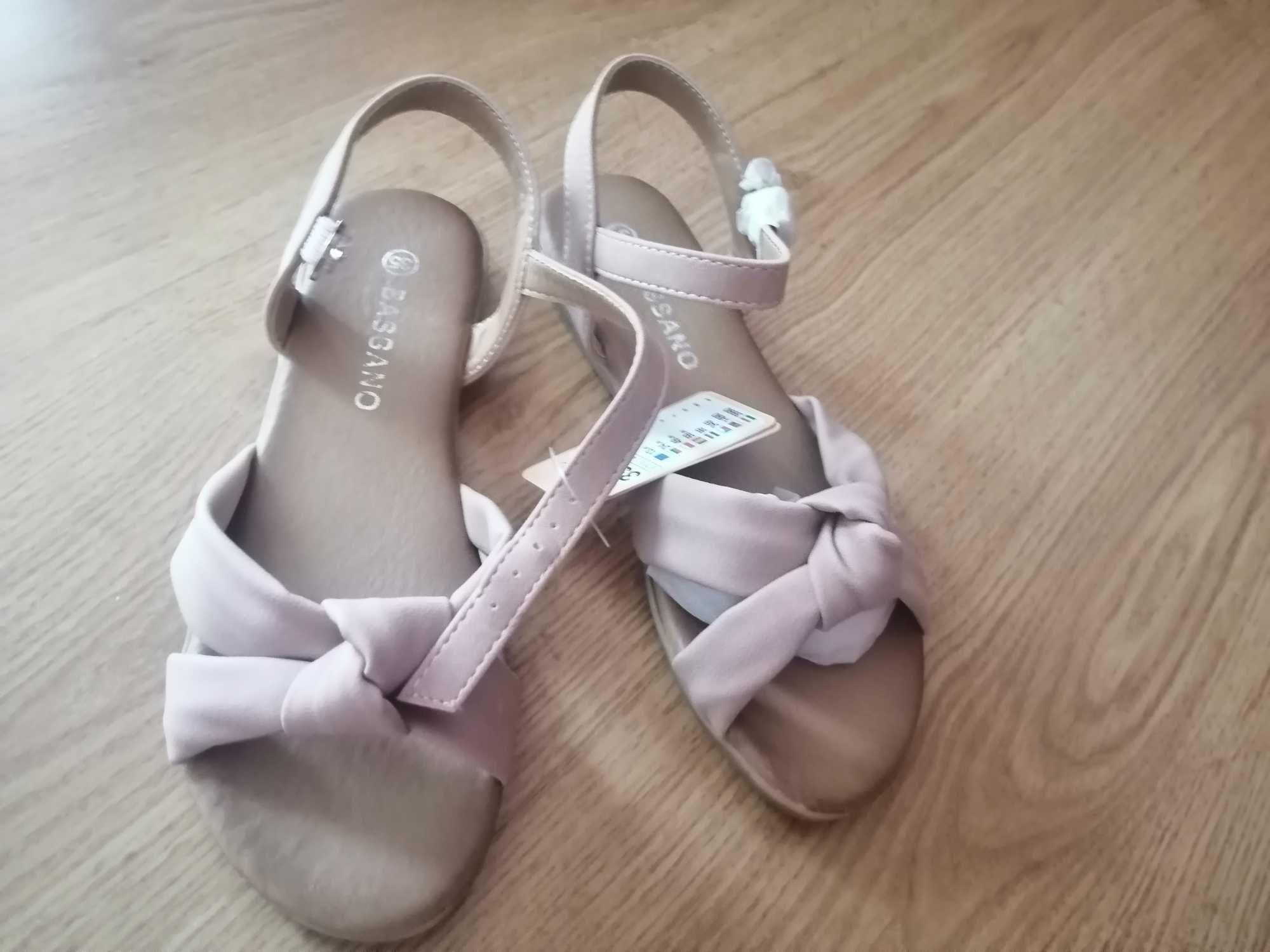 Sandałki rozowe 35