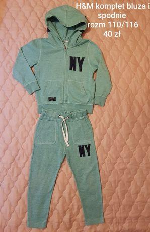 H&M komplet spodnie dresowe i bluza rozm 110/116