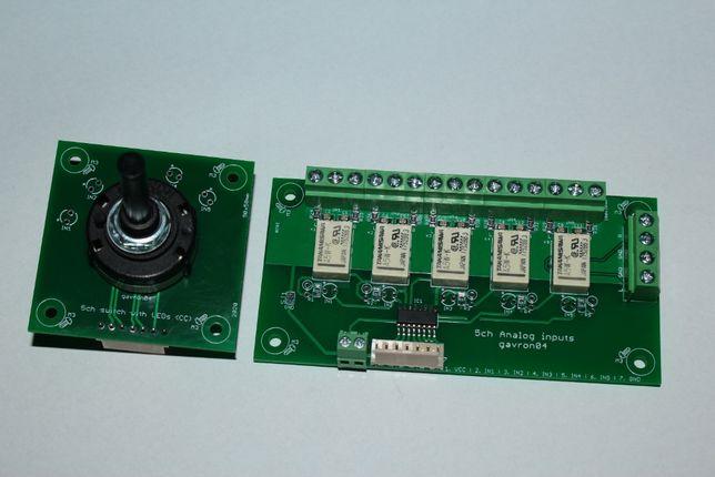 Selektor analogowy 5 wejść przełącznik