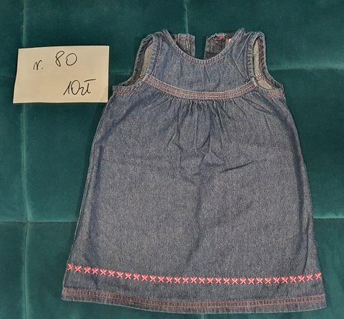 Dżinsowa sukienka rozmiar 80