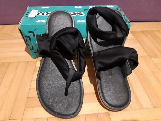 ZAXY Czarne Sandały R37-23,5 lacoste tommy nike damskie Sandały -50%