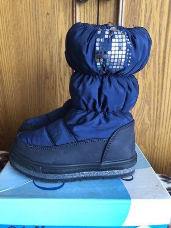Зимові чобітки на дівчинку, сапожки, ботинки.