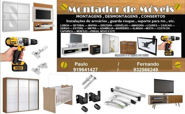 Montagem de móveis e mudanças
