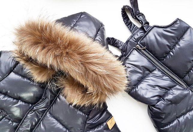 Зимний комбинезон, комплект куртка полукомбинезон