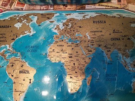 Скрейч карта мира