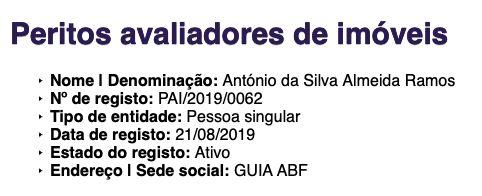 Perito Avaliador - CMVM