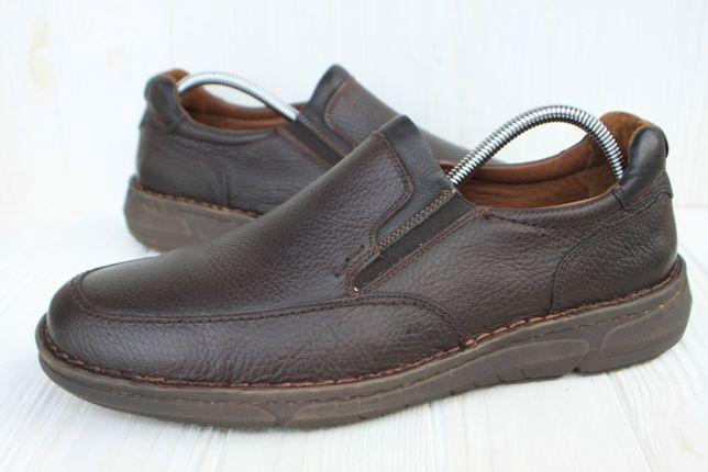 Туфли Out-Put кожа Италия 44р слипоны мокасины