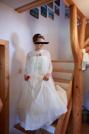 Suknia ślubna jak z Disneya - kształt A, rozm. 38-40, wzrost 175 +6cm