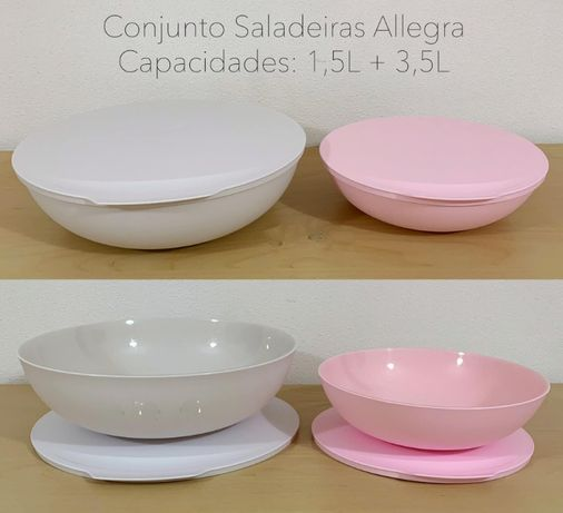 Tupperware saladeiras aliegra