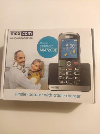 Telefon Maxcom Comfort MM720BB, nowy, nieużywany, idealny na prezent!