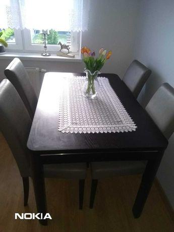 stół rozkładany 130/85 i 4 krzesła