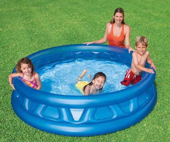 Детский надувной бассейн сливной клапан оригинал конус 790 литров