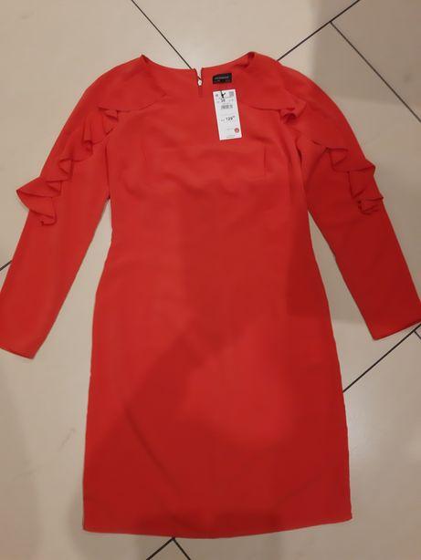 Sukienka elegancka czerwona Reserved, rozm. 38