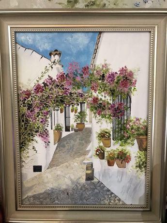 Картина маслом Греческие улочки