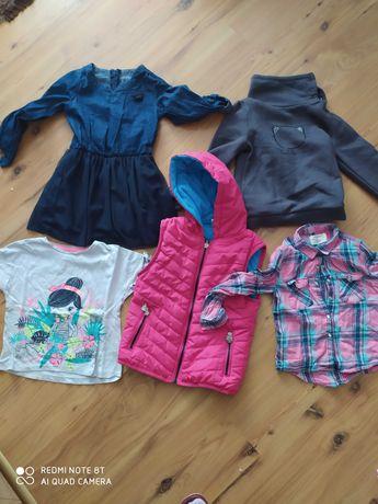 Paka 110-116 ubrania dziewczece