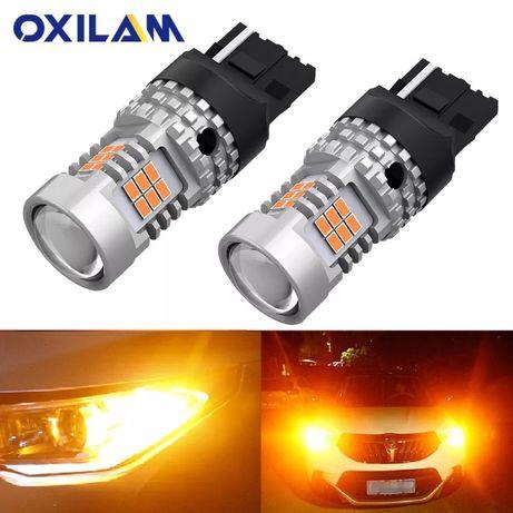 Светодиодные LED лампы сигналов поворота W21W