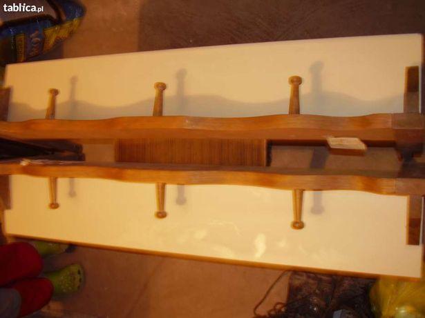 Wieszako-półki drewniane ręcznie zdobione