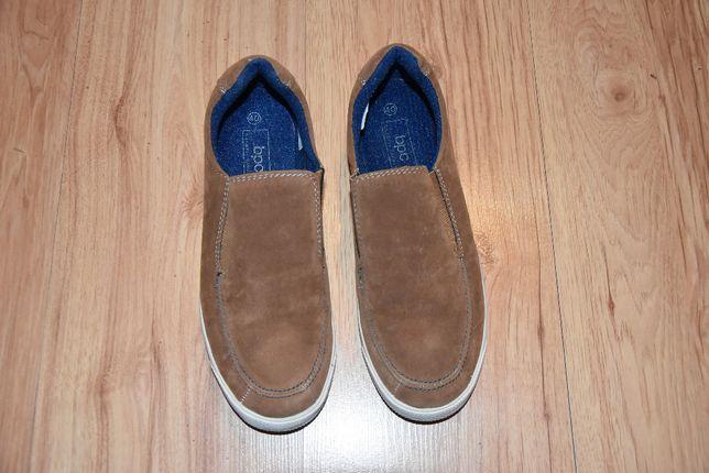 Bonprix brązowe buty wsuwane,mokasyny męskie roz 41