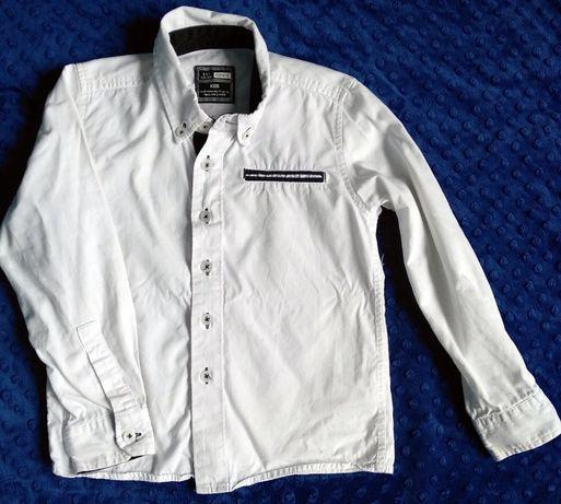 Koszula wizytowa biała, elegancka 110-116