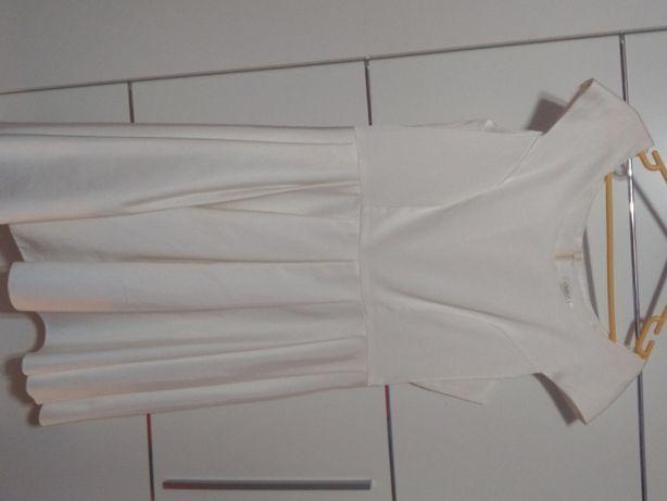 Sukienka biała z szarfą