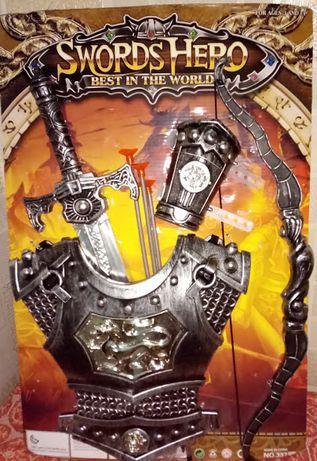 Набор рыцаря, меч. доспехи, рыцарское оружие