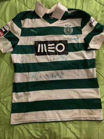 Camisola de jogo autografada William, Sporting CP vs Paços