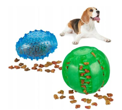 2x Piłka zabawka gumowa dla psa aport gryzak