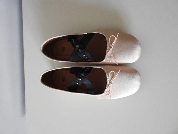 beżowe balerinki/baletki H&M