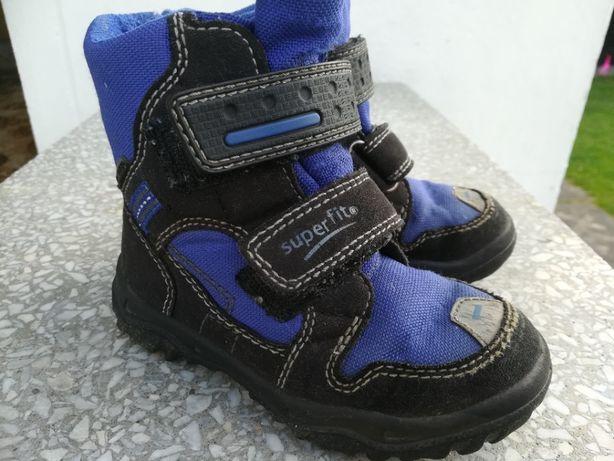 Kozaki, buty zimowe Superfit Goretex 24, wkładka 15cm, stan bdobry