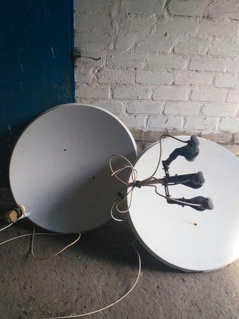 Продам 2 спутниковые антенны, тюнер