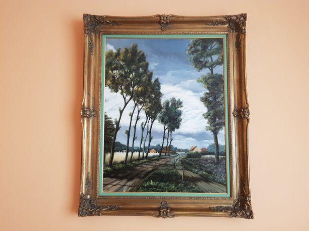 Piękny obraz olej na płótnie. 93x113cm.