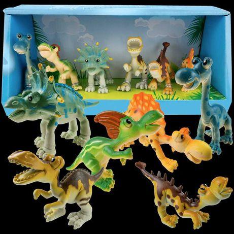 Gumowe Dinozaury figurki 6 szt. zestaw