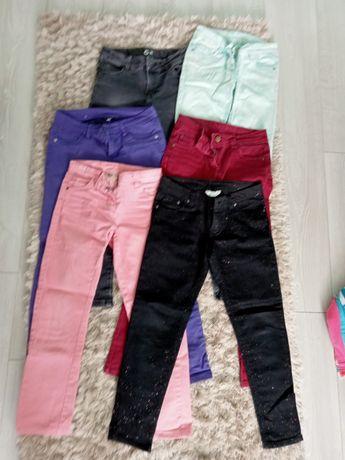 Spodnie jeansowe 6szt. rozm 140/146