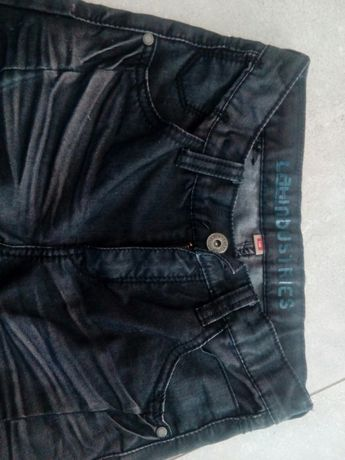 Spodnie jeans czarne wycierane oryginalnie