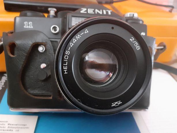 Aparat fotograficzny Zenit 11 z obiektywem Helios-44M-4, 2/58.