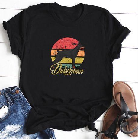 Koszulka t-shirt pies bokser doberman akita buldog labrador