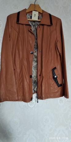 Куртка женская на осень, Кожа