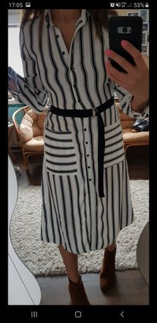 Sukienka w paski długa xs/s new look