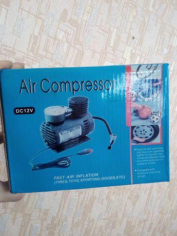 Автомобильный компрессор авто насос от прикуривателя 12в Air Compresso