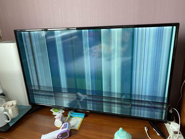 Телевизор  Ergo LE43CU6550AK битая матрица эеран целый на детали